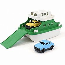 Ferry Boat: Green & White